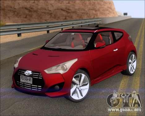 Hyundai Veloster 2013 para GTA San Andreas left