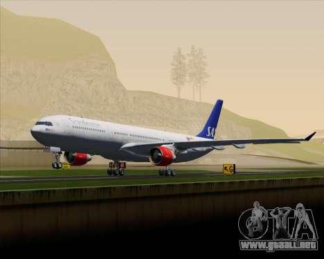 Airbus A330-300 Scandinavian Airlines System. para la vista superior GTA San Andreas