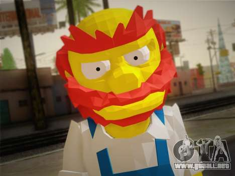 El Jardinero Willy De Los Simpsons: Road Rage) para GTA San Andreas tercera pantalla
