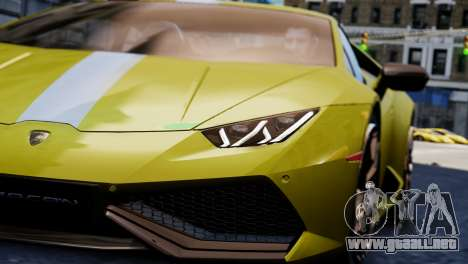 Lamborghini Huracan LP610-2 Valentino Balboni para GTA 4 vista hacia atrás