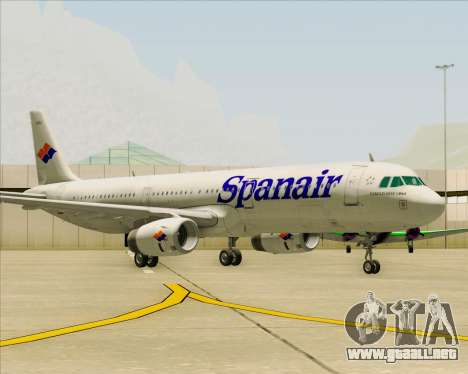 Airbus A321-231 Spanair para GTA San Andreas left