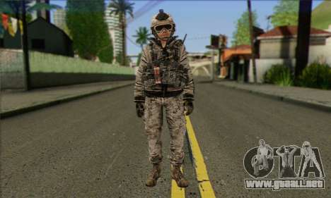 Task Force 141 (CoD: MW 2) Skin 5 para GTA San Andreas