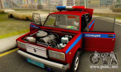 VAZ 2107 Policía para vista lateral GTA San Andreas