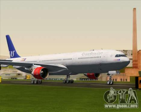 Airbus A330-300 Scandinavian Airlines System. para GTA San Andreas left
