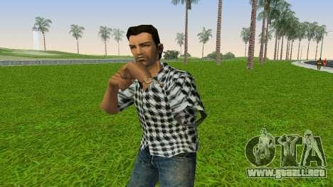 Kockas polo - fekete T-Shirt para GTA Vice City segunda pantalla