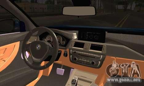 BMW 435i Stance para GTA San Andreas vista posterior izquierda