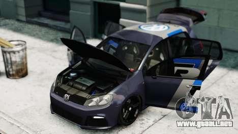 Volkswagen Golf R 2010 Polo WRC Style PJ2 para GTA 4 visión correcta