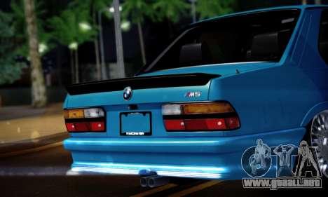 BMW M5 E28 para la visión correcta GTA San Andreas