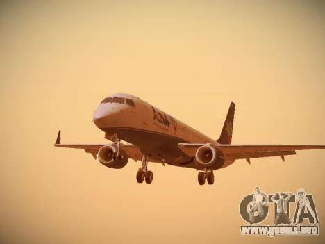 Embraer E190 Azul Brazilian Airlines para GTA San Andreas left