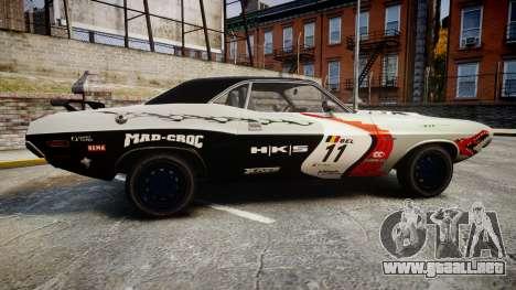Dodge Challenger 1971 v2.2 PJ5 para GTA 4 left