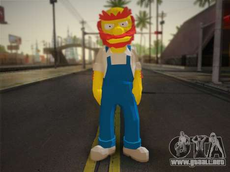El Jardinero Willy De Los Simpsons: Road Rage) para GTA San Andreas