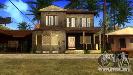 Nuevas texturas en HD casas en grove street v2 para GTA San Andreas octavo de pantalla
