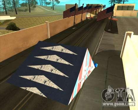 Sky Road Merdeka para GTA San Andreas sexta pantalla