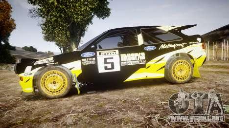 Ford Escort RS Cosworth 2.0 Vespas Team para GTA 4 left