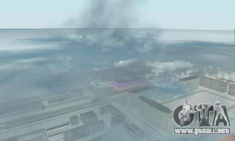Nieve para GTA Penal de Rusia beta 2 para GTA San Andreas quinta pantalla