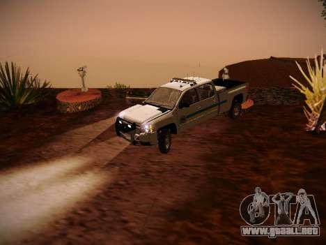 Chevrolet Silverado 2500HD Public Works Truck para GTA San Andreas vista hacia atrás