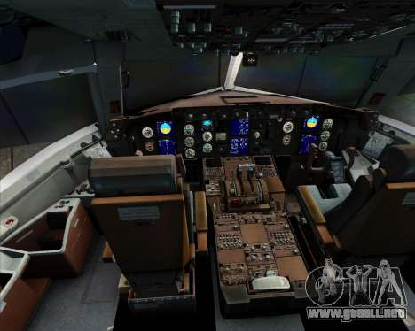 Boeing 767-300ER Qantas para GTA San Andreas interior