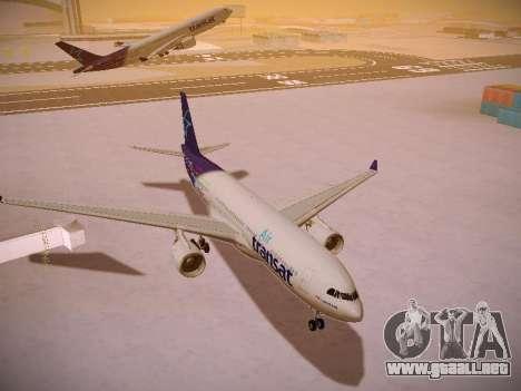 Airbus A330-200 Air Transat para GTA San Andreas vista hacia atrás