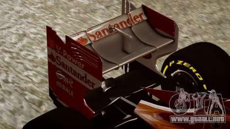 Ferrari F138 v2 para GTA 4 vista lateral