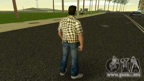 Kockas polo - citrom sarga T-Shirt para GTA Vice City tercera pantalla