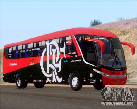 Marcopolo Paradiso 1200 G7 4X2 C.R.F Flamengo para GTA San Andreas vista posterior izquierda