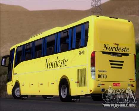 Busscar Elegance 360 Viacao Nordeste 8070 para el motor de GTA San Andreas