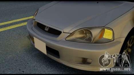 Honda Civic Si 1999 para GTA San Andreas vista hacia atrás