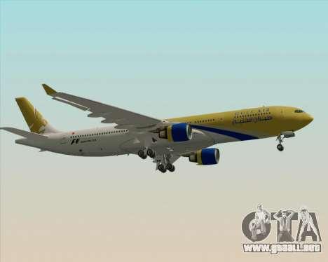 Airbus A330-300 Gulf Air para GTA San Andreas vista hacia atrás