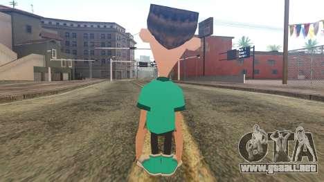 Sheen from Jimmy Neutron para GTA San Andreas segunda pantalla