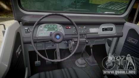 Toyota FJ40 Land Cruiser Soft Top 1978 para GTA 4 vista interior