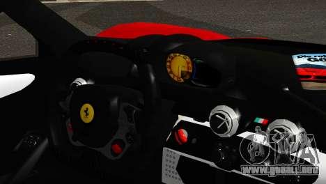 Ferrari LaFerrari 2014 (IVF) para GTA San Andreas vista posterior izquierda