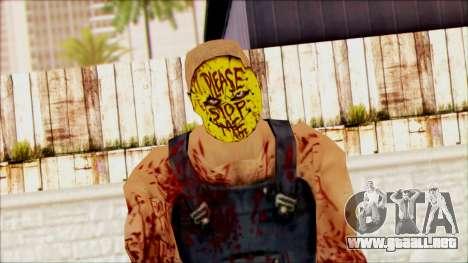 Manhunt Ped 15 para GTA San Andreas tercera pantalla