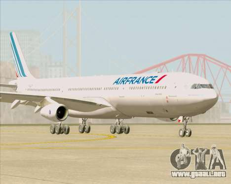 Airbus A340-313 Air France (New Livery) para GTA San Andreas left