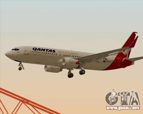 Boeing 737-838 Qantas para las ruedas de GTA San Andreas