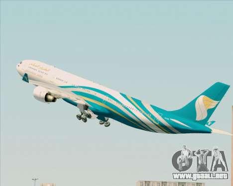 Airbus A330-300 Oman Air para GTA San Andreas interior