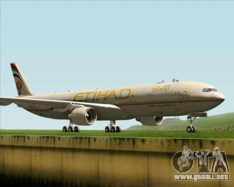 Airbus A330-300 Etihad Airways para GTA San Andreas left