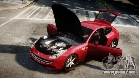 Ferrari FF 2011 v1.5 para GTA 4 Vista posterior izquierda