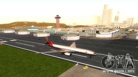 Boeing 777-280ER Asiana Airlines para visión interna GTA San Andreas