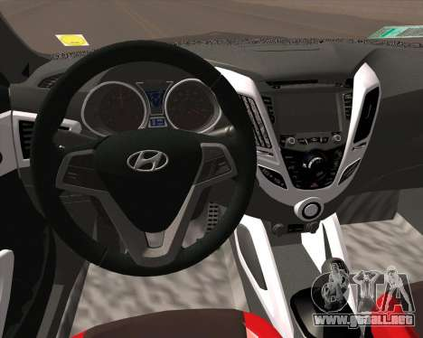 Hyundai Veloster 2013 para GTA San Andreas vista hacia atrás