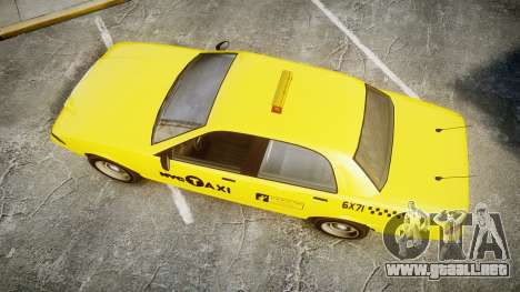 GTA V Vapid Taxi NYC para GTA 4 visión correcta