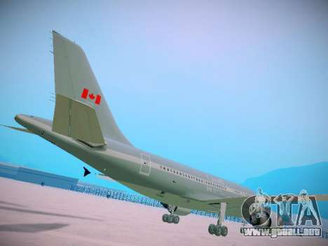 Canadian Forces Airbus CC150 Polaris para GTA San Andreas vista hacia atrás