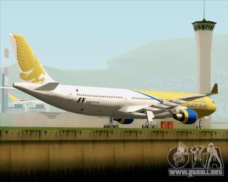 Airbus A330-300 Gulf Air para la visión correcta GTA San Andreas