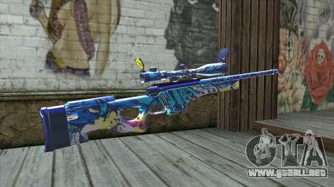 Graffiti Sniper Rifle v2 para GTA San Andreas segunda pantalla
