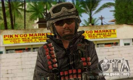 Task Force 141 (CoD: MW 2) Skin 4 para GTA San Andreas tercera pantalla