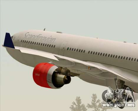 Airbus A330-300 Scandinavian Airlines System. para vista inferior GTA San Andreas