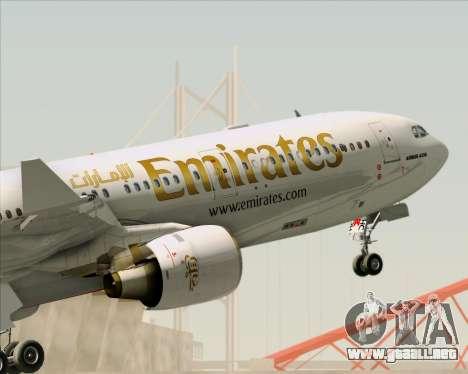 Airbus A330-300 Emirates para las ruedas de GTA San Andreas