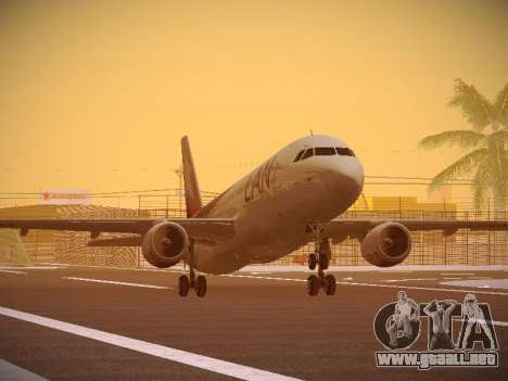 Airbus A320-214 LAN Airlines 80 Years para GTA San Andreas left
