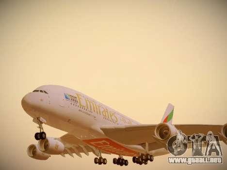 Airbus A380-800 Emirates Rugby World Cup para las ruedas de GTA San Andreas
