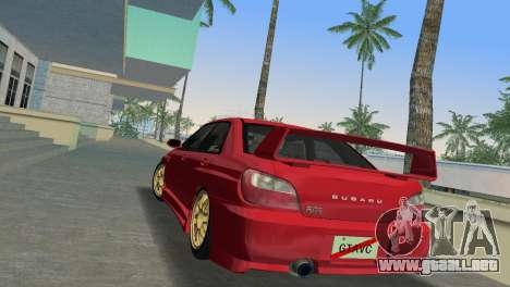 Subaru Impreza WRX 2002 Type 6 para GTA Vice City vista lateral izquierdo