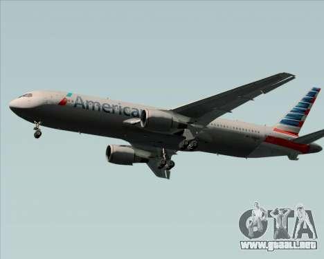 Boeing 767-323ER American Airlines para GTA San Andreas vista posterior izquierda